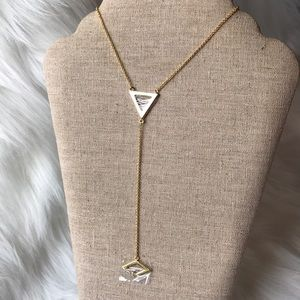 ⭐️Michelle Campbell Flat Triangle Lariat Necklace